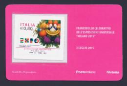 """2015 ITALIA REPUBBLICA """"EXPO MILANO 2015"""" TESSERA FILATELICA - 6. 1946-.. Republic"""