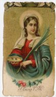 Santino Antico Fustellato Cromolitografia SANTA LUCIA - M3 - Religion & Esotérisme