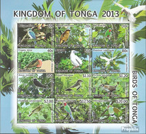 Tonga Mi.-Nr.: 1897-1908 Zd-Bogen (kompl.Ausg.) Postfrisch 2013 Freimarken: Vögel - Tonga (1970-...)