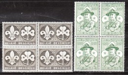 1022/23**  Scoutisme - Série Complète - Bloc De 4 - MNH** - LOOK!!!! - Belgium