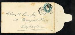 GB KEVII Postal Stationery Envelope EP40 Used 1903 Birmingham 75 Duplex (U312) - Luftpost & Aerogramme