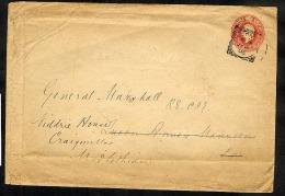 GB KEVII Postal Stationery 1d Envelope ES31 London Squared Circle (U333) - Entiers Postaux