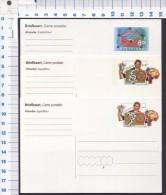 3 X Netherlands NL.- Briefkaart.  / Postcard With Value  POSTFRIS MNH **1992-1993-postkaart 80 C - Entiers Postaux