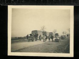Photo Sommessous 1916 - Convoi Militaire - Automobiles - Camions - Guerre, Militaire