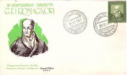 Fdc Universal Editrice: ROMAGNOSI 1961; No Viaggiata; AS_Salsomaggiore - 6. 1946-.. Repubblica