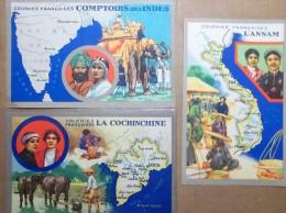 Beau Lot 280 cartes d'Asie-48 scans-A voir!-Lire description