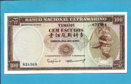 TIMOR - 100 ESCUDOS - 25.04.1963 - P 28 - Sign. 8 - UNC - REGULO D. ALEIXO - PORTUGAL - Timor