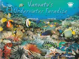 Vanuatu 1217-1228 Folienblatt (kompl.Ausg.) Postfrisch 2004 Unterwasserparadies - Vanuatu (1980-...)