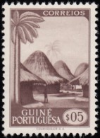 PORTUGUESE GUINEA - Scott #258 Guinea Village / Used Stamp - Portuguese Guinea