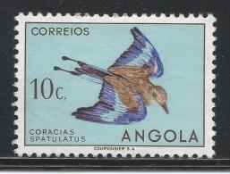 Angola 1951. Scott #334 (M) Bird: Racquet-tailed Roller, Oiseau * - Angola