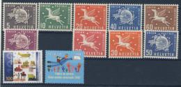 Lot Schweiz �mter UPU Michel No. 1 - 9 , 20 , 21 ** postfrisch