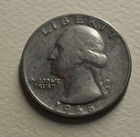 1966 - Etats Unis - USA - QUARTER DOLLAR, Washington, KM 164a - Bondsuitgaven