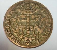 D Joao I Cinco Reis 1766 (Replica Com Banho De Cobre Velho REPRODUCTION  Fausse Monnaie) - 2 Scans - Counterfeits