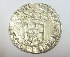 D Sebastiao I Meio Tostão (Replica Com Banho De Níquel Mate REPRODUCTION  Fausse Monnaie) - 2 Scans - Counterfeits