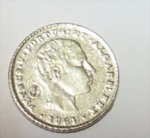 D Pedro V 100 Reis 1861 (Replica Com Banho De Níquel Mate REPRODUCTION  Fausse Monnaie) - 2 Scans - Counterfeits
