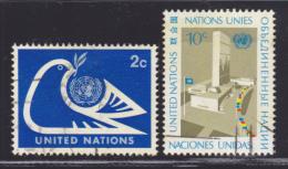 NATIONS UNIES NEW-YORK N°  242 & 243 ° Oblitérés, Used, TB  (D1416) - Oblitérés