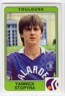FOOT STICKER FRANCE PANINI FOOTBALL 86 N°329 YANNICK STOPYRA - TOULOUSE FC - Edition Française