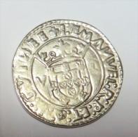 D Manuel I   Tostão  (Replica Com Banho De Liga Níquel Mate  REPRODUCTION  Fausse Monnaie) -2 Scans - Counterfeits