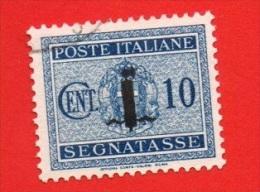 1944 (61) Segnatasse Ssovrastampati Con Piccolo Fascio Cent 10 (usato) - Leggi Messaggio Del Venditore - 4. 1944-45 Social Republic