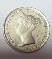 D Maria II 500 Reis 1849  (Replica Com Banho De Niquel Mate REPRODUCTION  Fausse Monnaie) -2 Scans - Counterfeits