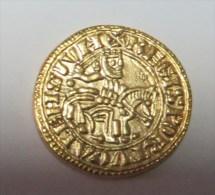 D Afonso II Morabitino Ouro (Replica Com Banho De Ouro REPRODUCTION  Fausse Monnaie) -2 Scans - Counterfeits