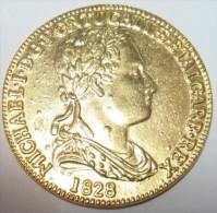 D Miguel I  1828  6400 Reis Ouro (Replica Com Banho De Ouro REPRODUCTION  Fausse Monnaie) -2 Scans - Counterfeits