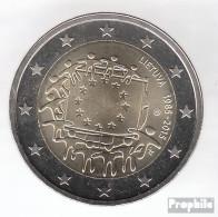 Litauen 2015 Stgl./unzirkuliert Auflage: 750.000 Stgl./unzirkuliert Stgl./unzirkuliert 2015 2 Euro 30 Jahre Europaflagge - Lituania