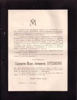 STEVOORT BXL DIEST Elisabeth STUCKENS 1827-1913 Doodsbrief Famille Baron De GROOTE PALMERS ETC - Décès