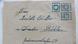 OPD: Fern-Brief Mit 6 Pfg Freimk.1.Ausg.1945 In MiF Aus HINTERHERMSDORF Nach DRESDEN-BÜHLAU Vom 7.12.45 Knr: 43 BIIb - Zone Soviétique