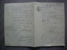 4 FEVRIER 1930 M.MAHE GEOMETRE A VERVINS 12 DE LA PLACE POUJARD LIMITES PROPRIETES TRAVETTONI-CAPLET-BECART - Manuscrits