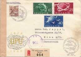 SCHWEIZ 1949 - 4 Fach Frankierung (hoher Katalogwert) Auf R-Brief Mit Zensurstempel Gel.v. Basel > Wien