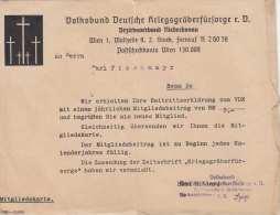 DEUTSCHES REICH 1942 - Bestätigungsschreiben Der Des Volksbund Deutscher Kriegsgräberfürsorge E.V., Niederdonau ... - Historische Dokumente