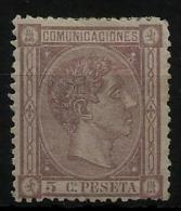 02171 España EDIFIL 163 * Catalogo 102,- Magnifico - 1875-1882 Regno: Alfonso XII