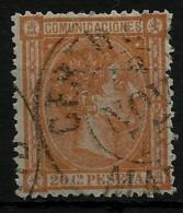 02172 España EDIFIL 165 O Catalogo 198,- - 1875-1882 Kingdom: Alphonse XII