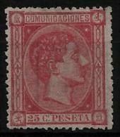 02173 España EDIFIL 166 (*) Catalogo 89,-  MAGNIFICO - 1875-1882 Regno: Alfonso XII