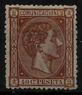 02174 España EDIFIL 167 * Catalogo 165,-  LUJO - 1875-1882 Regno: Alfonso XII