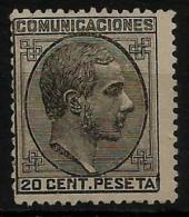 02182 España EDIFIL 193 (*) Catalogo 265,- - 1875-1882 Reino: Alfonso XII