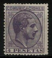 02187 España EDIFIL 198 (*) Catalogo 305,-  Magnifico - 1875-1882 Regno: Alfonso XII