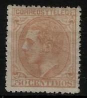 02190 España EDIFIL 206 * Catalogo 166,- - 1875-1882 Regno: Alfonso XII