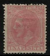 02191 España EDIFIL 207 * Catalogo 188,- - 1875-1882 Reino: Alfonso XII