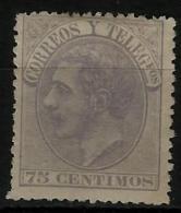 02194 España EDIFIL 212 (*) Catalogo 415,- - 1875-1882 Regno: Alfonso XII