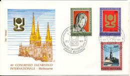 Vatican FDC 27-2 1973 Eucharistic Congress  Melbourne  Australia Complete With Cachet - FDC