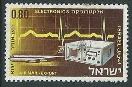 1968 ISRAELE POSTA AEREA USATO AEREI 80 A SENZA APPENDICE - T4 - Airmail