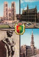 Souvenir De Bruxelles, Aandenken Aan Brussel (pk28980) - Panoramische Zichten, Meerdere Zichten