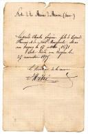 Marsac Archives Note Mairie Certificat Décès 1895 - Vieux Papiers