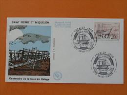 Cale De Halage Chantier Naval FDC St Pierre Et Miquelon 195 - FDC