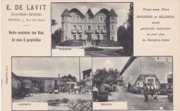 CPA Animée (34)  BEZIERS Carte Publicitaire E. DE LAVIT Vigneron LENTHERIC AUTIGNAC Vin Multi Vues - Beziers