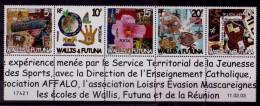 (36) Wallis + Futuna  2003 / Postal Art Strip  ** / Mnh  Michel 838-42 - Unclassified