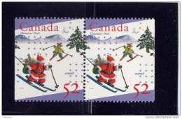 CANADA, 1996,  # 1628, UNICEF & CHRISTMAS   PAIR  MNH - Carnets