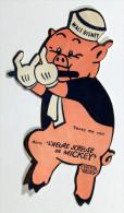 Pub WALT DISNEY Pour Le Film L' HEURE JOYEUSE De MICKEY - 1934 Petit Cochon Flûte - Victorian Die-cuts